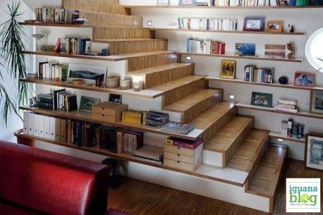 Usando el espacio de la escalera