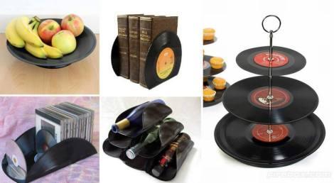 Opciones de decoración con Disco de Vinilo