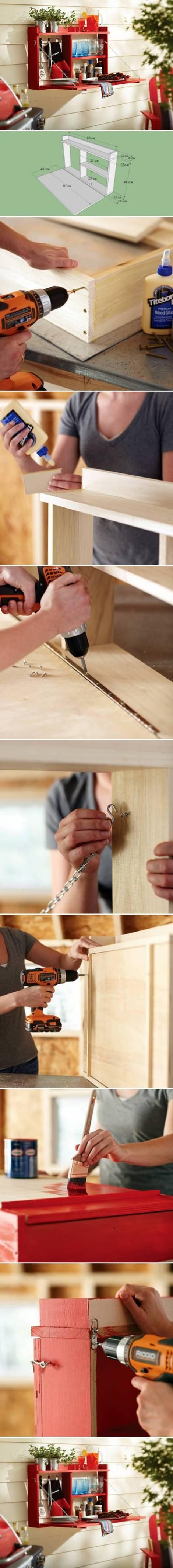 DIY-Wall-Mounted-Folding-Table