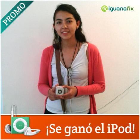 Carolina Cáceres, ganadora de la promo del iPod